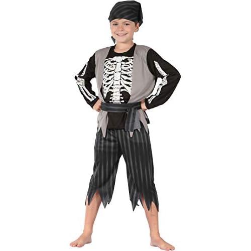 Costume bambino Pirata Skeleton, 5-7 anni