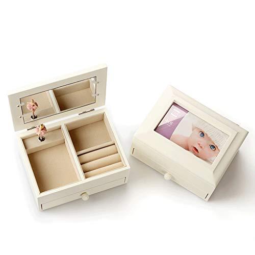Exquisito Marco de madera de la caja de música caja de música de ballet de la danza Música Joyero de almacenamiento de música regalo de cumpleaños caja creativa Decoración ( Color : Swan Lake )