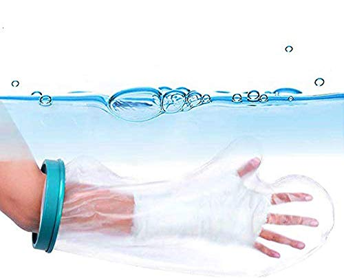 Waterproof Arm Cast Cover for Shower, Bath - Reusable Cast Protector, Cast Bag, Cast Sleeve - Watertight Protection for Broken Hands, Fingers, Wrists, Arms