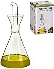 D'CASA dcasa-Aceitera antigoteo Cristal 250 CC en Caja, 250ml