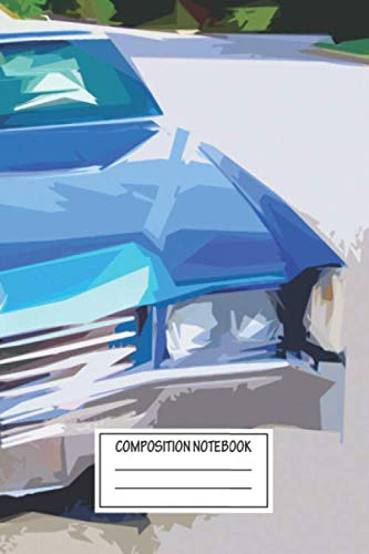 Composition Notebook: Pop Art 19 Cadillac Eldorado The Eldorado Is A Twodoor Perso Hybrids Wide Ruled Note Book, Diary, Planner, Journal for Writing
