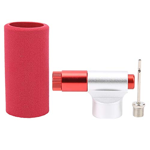 Cabezal inflador de bicicleta con bomba Cabezal inflador de cubierta de esponja EVA portátil, para neumáticos de bicicletas