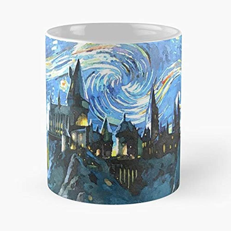 Night Starry Colors Hp Castle - Coffee Mugs Unique Ceramic Novelty Cup For Holiday Days 11 Oz.