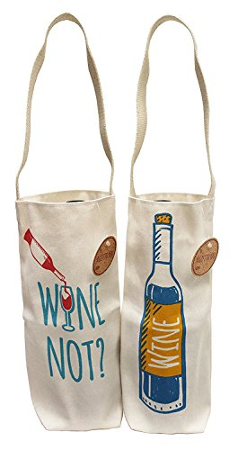 Earthwise Wine Bag Cotton Canvas Reusable Gift Tote Made in the USA (4 pack)