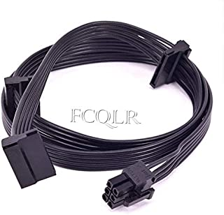 FCQLR PCI-E 6Pin to 3 SATA Power Supply Cable PSU para Corsair RM1000 RM850 RM750 RM650