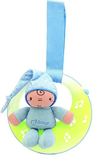 Chicco - Luces musicales buenas noches, panel de cuna con luces y melodías, color azul