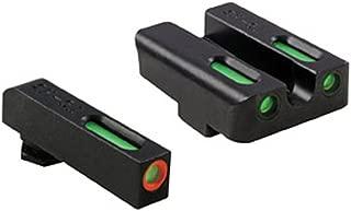 TFX Pro Tritium/Fiber-Optic Day/Night Sights, Green/Orange Ring for Glock LW