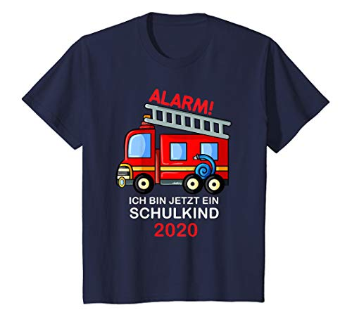 Kinder Einschulung 2020 T-Shirt Jungen Feuerwehr Schulanfang T-Shirt