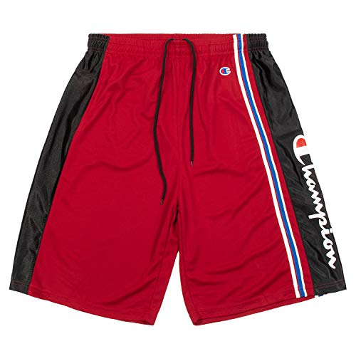 Champion Shorts, Big and Tall Shorts for Men, 100% Polyester Mens Shorts Red