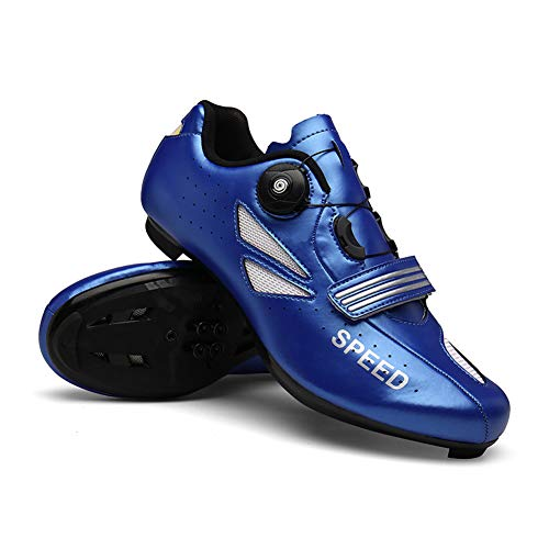 UYBAG Outdoor Sport Bicycle Shoes Men's MTB Cycling Shoes with Lock System and Adjustable Rotating Buckle Triathlon Racing Shoes The Best Choice for Beginners,42