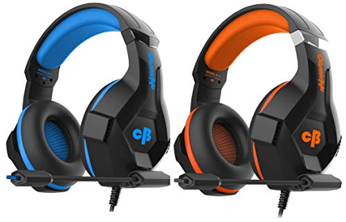 Cosmic Byte H11 Gaming Headset with Microphone (Black/Blue)&Cosmic Byte H11 Gaming Headset with Microphone (Black/Orange)