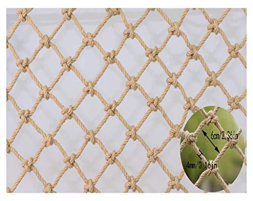 WWWANG Hanf-Seil-Partition Dekorative Gitter Treppen Schutz Net Balkon Anti-Fallen Net Child Safety Net Retro Bar Decken Net hängende Kleidung Net Kletternetz, Seil staubdicht, Sonnenschutz