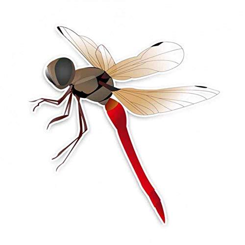 GQQ Autosticker, 15,3 cm * 15 cm, leuke grijze libellen, PVC, dier, autosticker, beste kleine geschenken voor stickerliefhebbers A