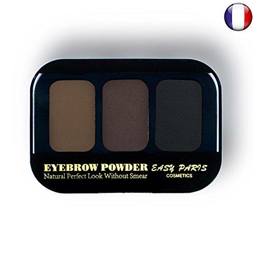 Kit Ombres fard à sourcils poudre crème 3 couleurs Brun châtain noir Naturel de 123 cosmé 24