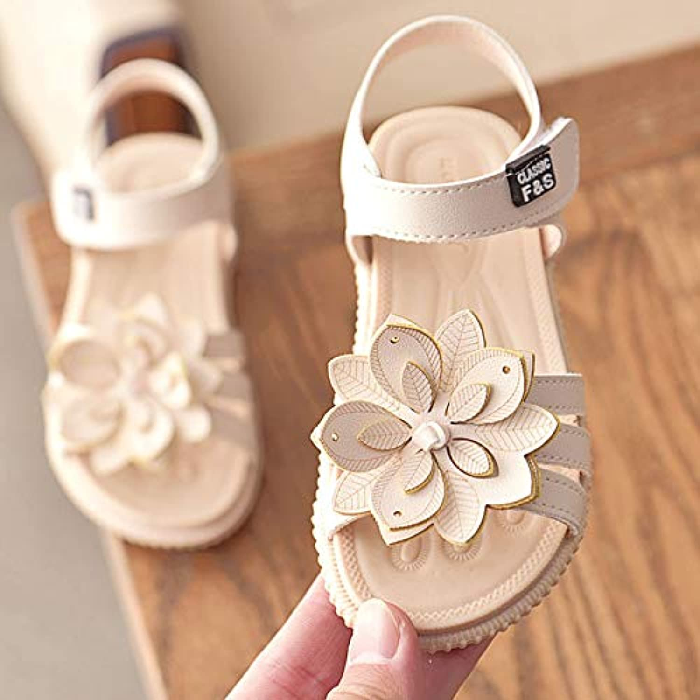 キッズサンダル ガールズサンダル 子供靴 可愛い花 女の子 お嬢様 ジュニア 歩きやすい ビーチサンダル 柔らかい 夏 靴 小さいサイズ 大きいサイズ