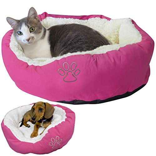 Evelots Pet Bed for Cat/Small Dog-New Model-Soft-Warm/Cozy-Easy Washing-5 Colors