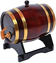 5 L Wine Barrel Whiskey Barrel Wine Dispenser for Storage Or Aging Wine & Spirits Beer Household Home Brewing Wooden Barre...