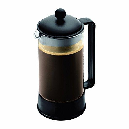 Bodum Brazil French Press Coffee Maker, 34 Ounce, 1 Liter, (8 Cup), Black (Renewed)