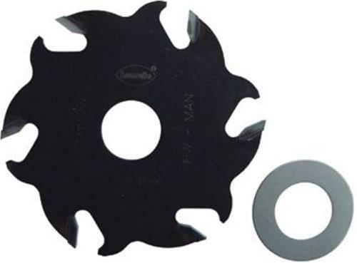 LAMELLO 132106 Nutfräser HW 100 x 4 x 22 mm Z6 zu Nutfräsmaschinen, Silver|silver Metallic