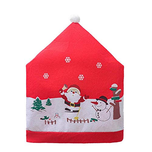 LLAAIT Christmas Chair Covers Santa Claus Chair Back Cover Christmas Dinner Table Decoration New Year Party Supplies Xmas Ornament