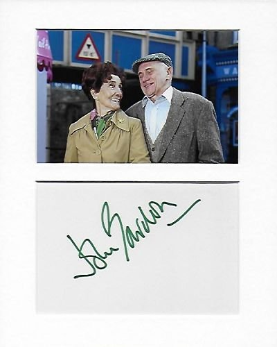 Eastenders–Jim Branning–John Bardon mano original y auténtico firmado autógrafo AFTAL COA