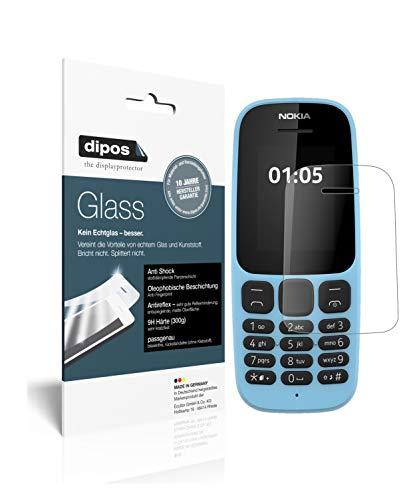 dipos I 2X Pellicola Protettiva Opaco Compatibile con Nokia 105 (2019) Protezione Vetro Flessibile 9H