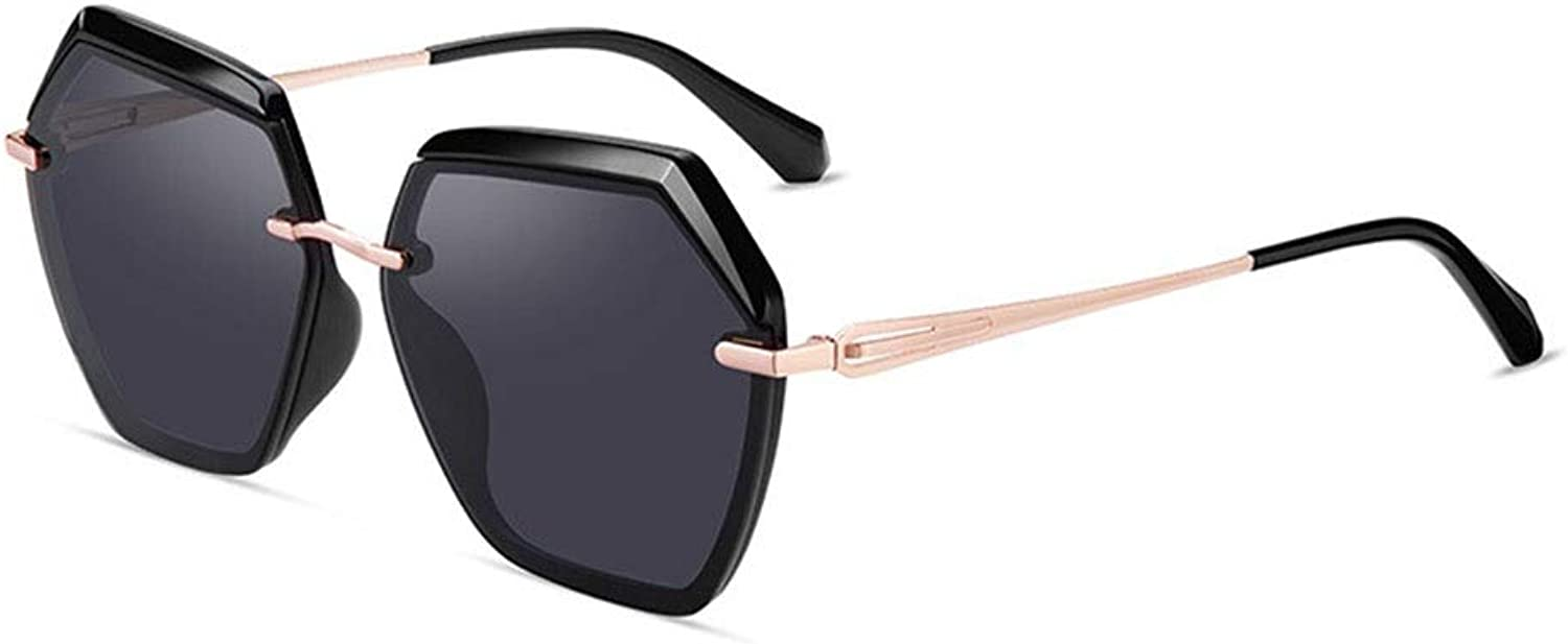 Sunglasses, Korean Version of The Large Frame Polarized Diamond Faceted Female Models Driving Special Goggles