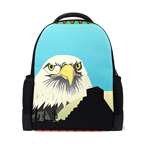 FANTAZIO mochila mexicana Eagle mochila escolar