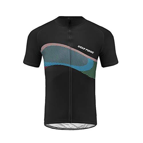 Uglyfrog Maillot Ciclismo Hombre Verano Maillot Bicicleta Montaña Bike MTB Camiseta con Mangas Cortas DXML05