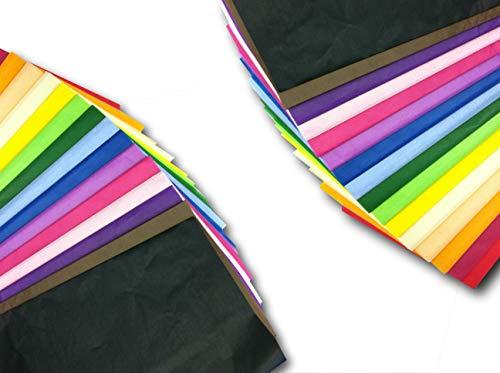 100 Hojas De Papel De Seda De Colores Para Envolver Regalos 50 X 75Cm De ODL Packaging Ltd Multicolor