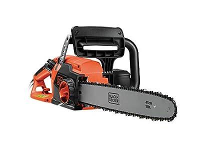 BLACK+DECKER CS2245-QS - Motosierra eléctrica 2200W, espada 45 cm, velocidad 12.5 m/s