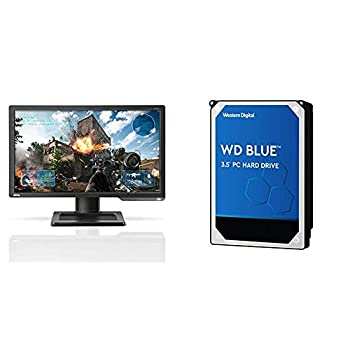 BenQ Zowie XL2411P 24 Inch 144Hz Gaming Monitor   1080P 1ms   Black Equalizer & Color Vibrance for Competitive Edge & WD Blue 1TB PC Hard Drive - 7200 RPM Class SATA 6 Gb/s 64 MB Cache 3.5