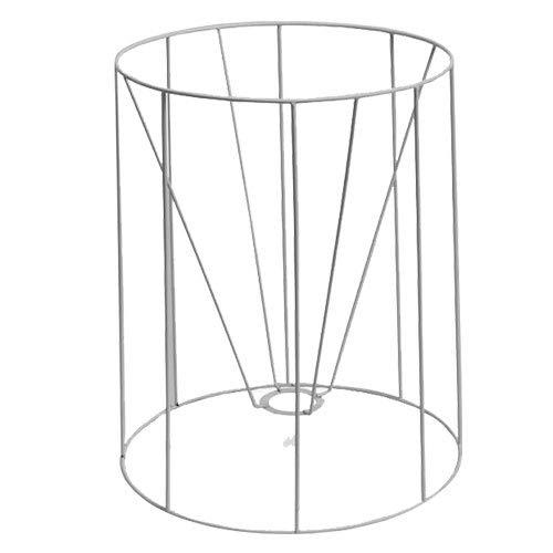 SMITS Lampenschirmgestell, weiß plastifiziert, Ø o. 30cm, Ø u. 35cm, h 40cm