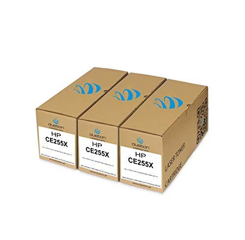 3X CE255X, 55X Toner negro regenerado Duston compatible con impresoras HP LaserJet Enterprise P3015, P3015d, P3015dn, P3015x, M525c M525dn M525f M521dn, M521dw
