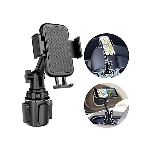 JINHU Universal Ajustable Soporte para Teléfono Móvil con Portavasos para Coche Soporte De Consola Central con Cuello Largo Flexible Conduccion Segura Adecuado para Carro SUV Camión, Etc.