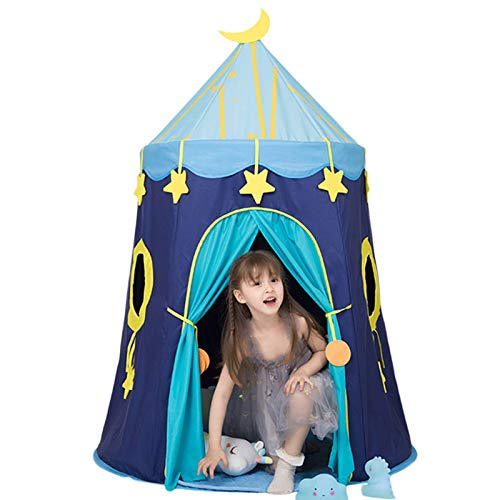 LANHA Play Tent for Kids, Toys Playhouse Pop Up Tent Foldable Gifts for Indoor Outdoor Games, for Boys and Girls 150 x 110 x 110cm - Blue