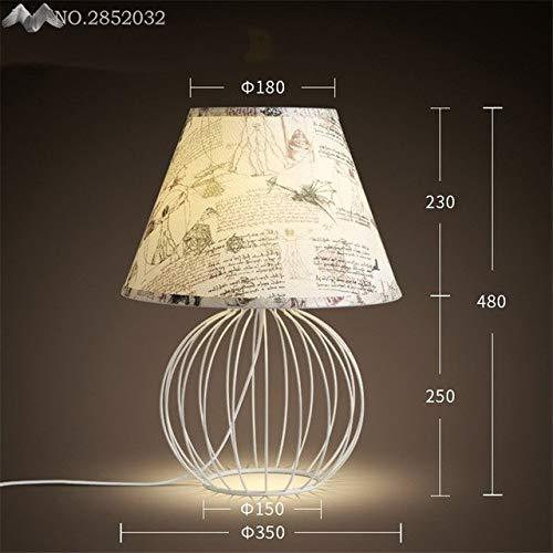 5151BuyWorld Amerikaanse lamp, creatief, stof, lampenkap, tafelkwaliteit, voor de woonkamer, slaapkamer, kantoor, nachtkastje, lezen, verlichting