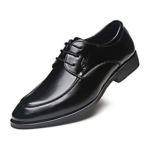 Zapatos Oxford Hombre Cuero Vestir Cordones Derby Calzado Boda Negocios Brogue Negro...