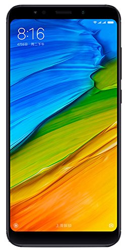 "Xiaomi Redmi 5 Plus Smartphone de 5.99 "", 4GB RAM, 64 GB ROM, Snapdragon 625, cámara 12 MP, Android, negro [Versión global]"
