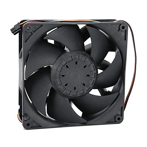 Ventilador del Disipador De Calor 4PIN Sistema De Enfriamiento Enfriador De CPU Computadora PC Accesorio 14cm 12V 43.2W - Negro