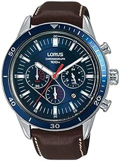 ساعة رياضية كرونوغراف بحزام جلدي للرجال من لوروس موديل RT313HX9
