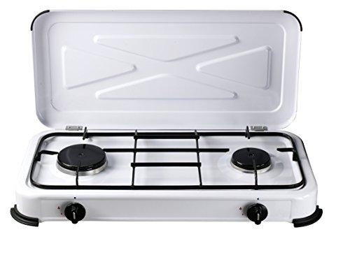 Bcalpe BG02BM Cocina Gas 2 Fuegos, Blanco, 33.5x61x10 cm