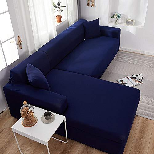 Fsogasilttlv Universal Funda Cubre Sofas Ajustables Funda de Almohada Azul Oscuro, Fundas de Almohada Decorativas de poliéster Fundas de Almohada 45 * 45 cm 1 PCS