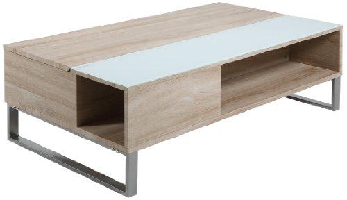 AC Design Furniture Couchtisch Nikolaj, B: 110 T: 60 H: 35 cm, Eiche Look, Braun