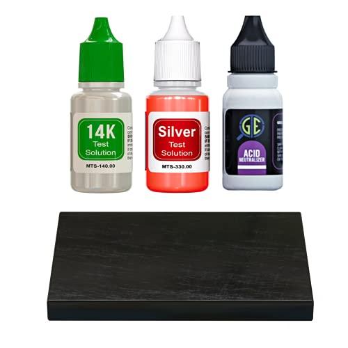 Gold/Silver Test Acid Tester Kit 10k 14k .999 .925 Sterling...