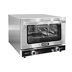KITMA 26L Countertop Convection Oven – Commercial Toaster Oven with 3 Toasting Racks, 1440W Efficient Heating, Stainless…