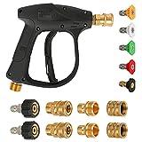 Pistola per idropulitrice ad alta pressione, Luckits 4350 PSI con kit adattatore...