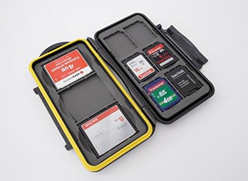 ✅ Este estuche es perfecto para guardar tarjetas de memoria de manera segura. El estuche contiene hasta 3 tarjetas CF y hasta 6 tarjetas SD, SDHC o SDXC. ✅ Las inserciones de goma absorbentes de golpes con rebajes de forma precisa para las tarjetas y...