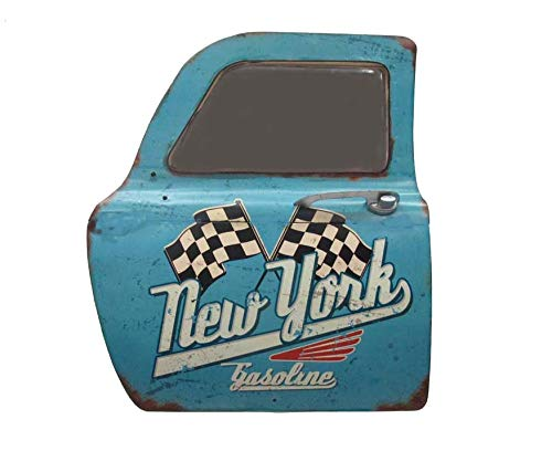 LBDM Paris Plaque métal Cadre Miroir Porte Gasoline New York Route 66