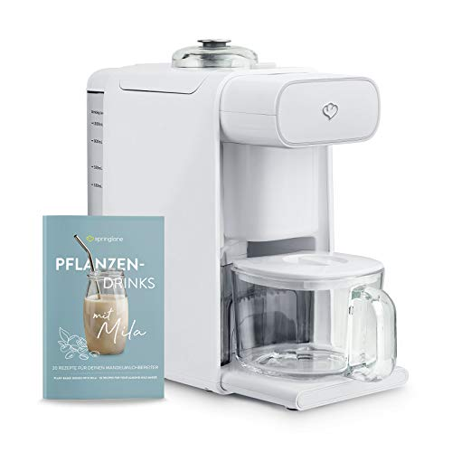 Machine à lait d'amande Mila, machine à lait de soja, mélangeur de cuisson avec passoire pour la préparation de tous types de laits végétaux - 1 litres